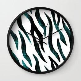 Here Kitty Kitty - Teal Wall Clock