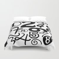 numbers Duvet Covers featuring Numbers by Sweet Colors Gallery