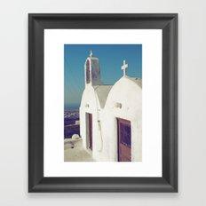 Santorini Churches II Framed Art Print