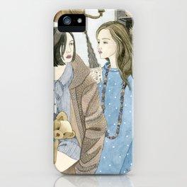 Just Between Us Girls iPhone Case