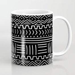 Mud Cloth on Black Coffee Mug