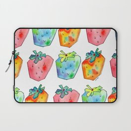 Difference Is Not Wrong watercolor painting strawberry illustration fruits nursery kitchen Laptop Sleeve