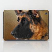 german shepherd iPad Cases featuring Best in Show - German Shepherd by Jai Johnson