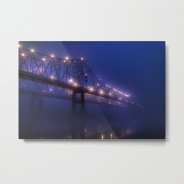 Nighttime New Orleans No. 5: Crescent City Connection Metal Print