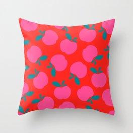 pop apple Throw Pillow