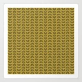 Golden Olive Leaves Art Print
