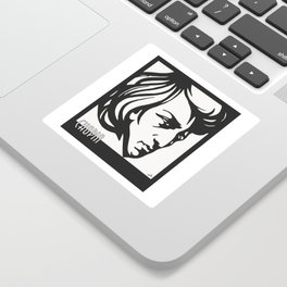 Art Deco style Chopin Sticker