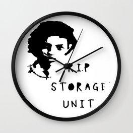 r.i.p storage unit Wall Clock