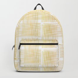 Luxe Gold Criss Cross Weave Hand Drawn Vector Pattern Background Backpack