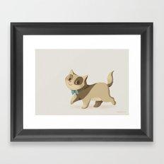 Little Cat Simply Framed Art Print