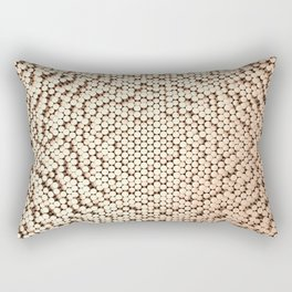 Pattern of brushed copper cylinders Rectangular Pillow