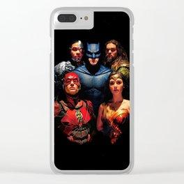 Justice League art Clear iPhone Case