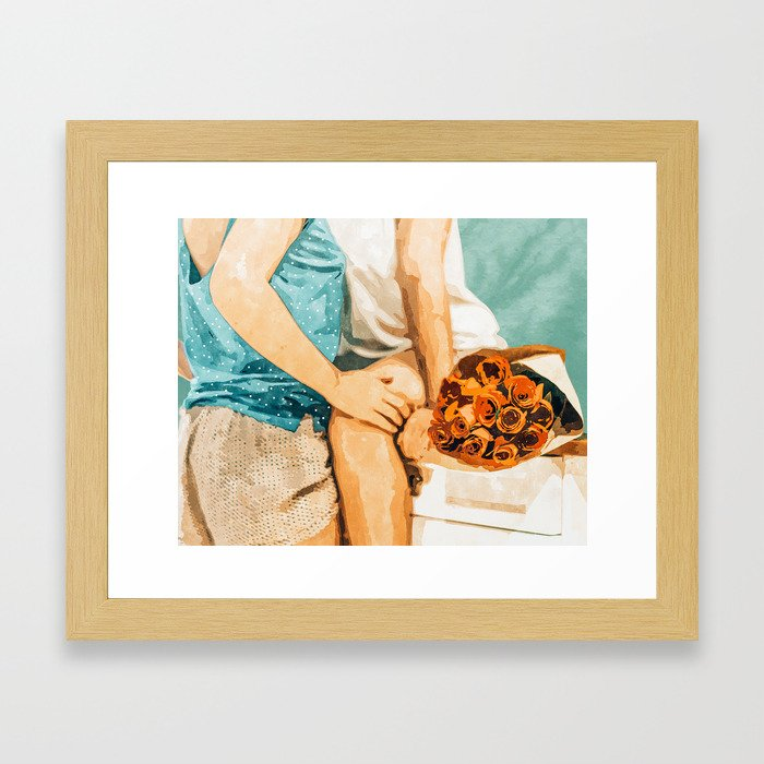 Romance #painting #love Framed Art Print
