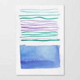 21   |181026 Lines & Color Block | Watercolor Abstract | Modern Watercolor Art Canvas Print