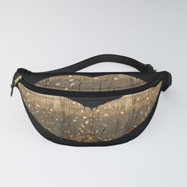 Golden Motes Kissing Lips Fanny Pack