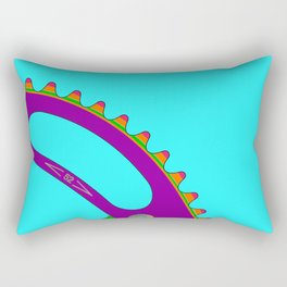Psychedeli-Cat Chainring Rectangular Pillow