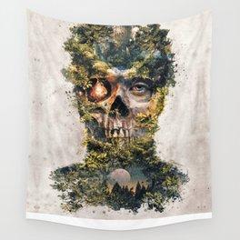 The Gatekeeper Surreal Dark Fantasy Wall Tapestry