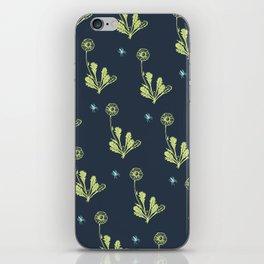 Spider Daisies (green + navy) iPhone Skin