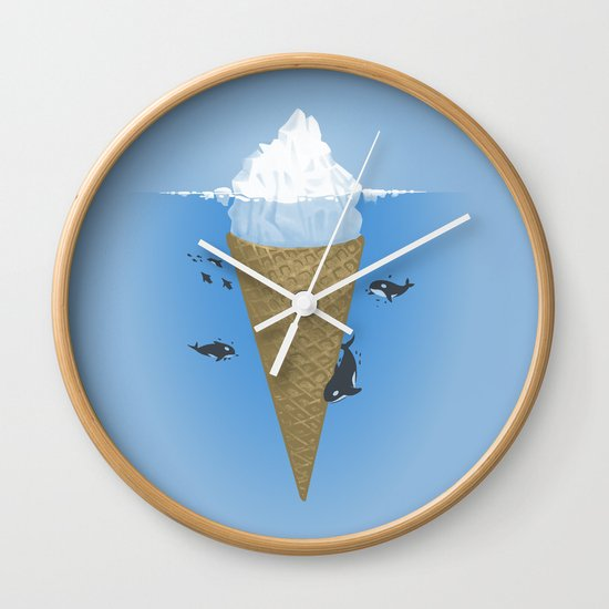 Hidden part of icebergs Wall Clock