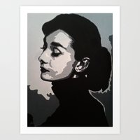 audrey Art Prints featuring Audrey by AUSKMe2Paint