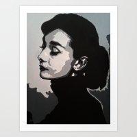 audrey Art Prints featuring Audrey by AUSKMe2Paint