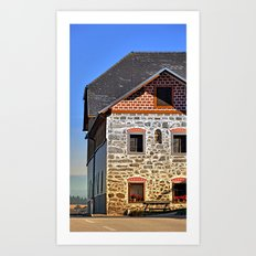 Traditional farm with beautiful front | architectural photography Art Print