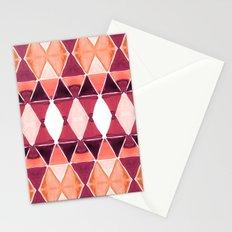 Art Deco Triangles Orange Stationery Cards