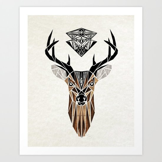 oh deer! Art Print by Manoou