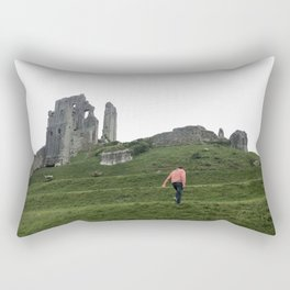 Corfe Castle Wanderlust medieval Rectangular Pillow