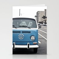 volkswagen Stationery Cards featuring Volkswagen Bus by somethinghitdom