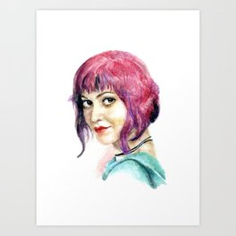 """Ramona Flowers"" Watercolor Portrait Art Print"