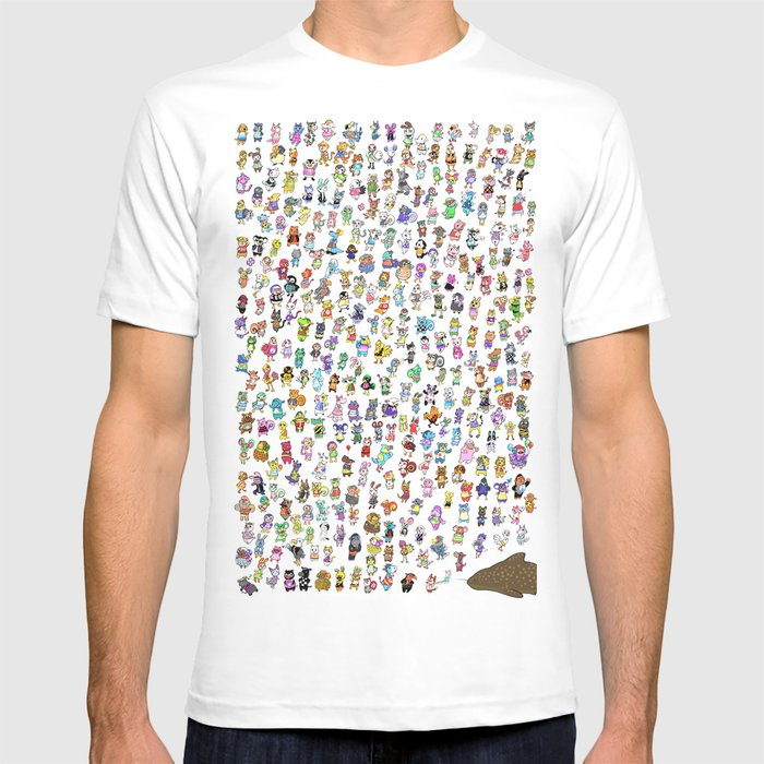Animal Crossing New Leaf All Villagers T Shirt By Kangel Society6