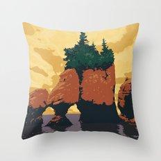 Hopewell Rocks Poster Throw Pillow