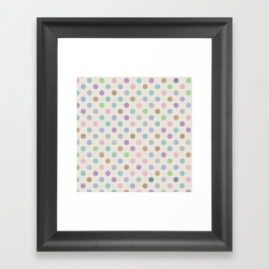 Soft Dots Framed Art Print