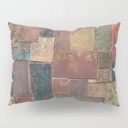 Etched Patina Patchwork Pillow Sham
