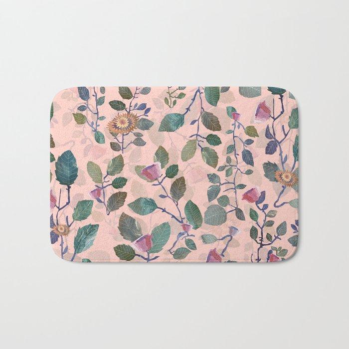 pink garden#pink Bath Mat