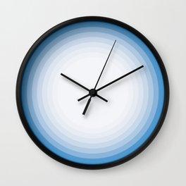 Blue circle pattern Wall Clock