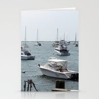 boats Stationery Cards featuring Boats by Kim Hawley