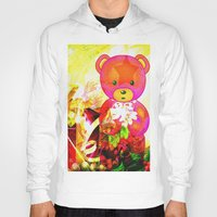 arnold Hoodies featuring Arnold celebrates Christmas by shiva camille
