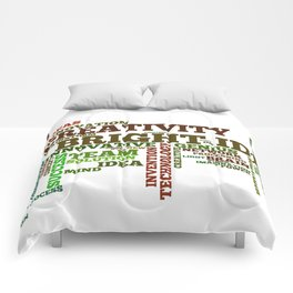 Word cloud with inspiring phrases Comforters