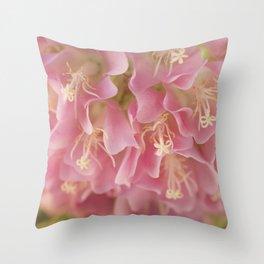 Tropical Hydrangea Throw Pillow
