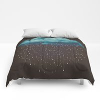 Comforters featuring Let It Fall by soaring anchor designs