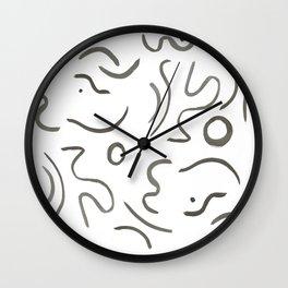 Stroke Abstract Wall Clock
