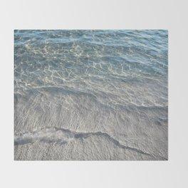 Water Photography Beach Throw Blanket