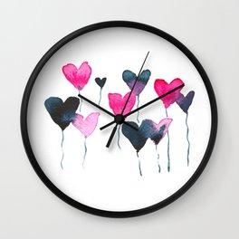 Heart felt balloons Wall Clock