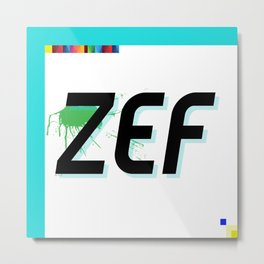 Zef Side Zol 2.0 Metal Print