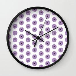 Purple Daisy Wall Clock