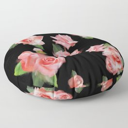 Montage of Roses Floor Pillow