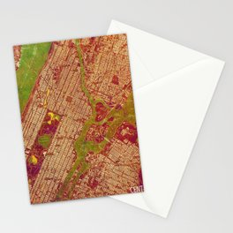 Central Park New York, old map, vintage old map, mapa antiguo, american map Stationery Cards