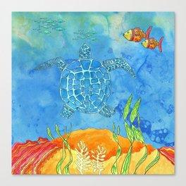 Secret Turtle Canvas Print